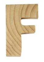 Rayher Holzbuchstabe für Buchstabenzug F