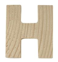 Rayher Holzbuchstabe für Buchstabenzug H