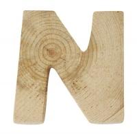 Rayher Holzbuchstabe für Buchstabenzug N
