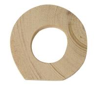 Rayher Holzbuchstabe für Buchstabenzug O