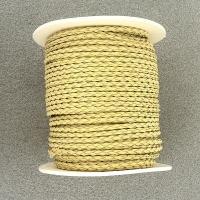 Lederband 3mm geflochten natur je 10cm