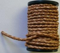 Lederband 4mm geflochten natur je 10cm