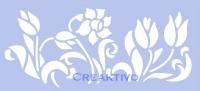 Marabu Schablone 15x33cm Spring Flowers