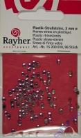 Rayher Plastik-Strassteine 3mm 96 Stück rosenquarz