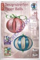 Designstreifen Paper Balls - Grace (Restbestand)