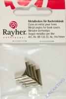 Metallecken für Bucheinbände 4 Stück