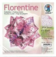 Florentine Faltblätter Mille fleurs 15x15cm 65 Blatt pink/rosa