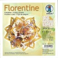 Florentine Faltblätter Mille fleurs 15x15cm 65 Blatt orange/hellorange