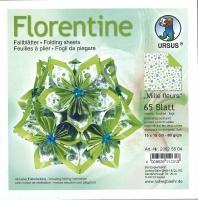 Florentine Faltblätter Mille fleurs 15x15cm 65 Blatt grün/hellgrün