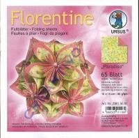 Florentine Faltblätter Paradiso 15x15cm 65 Blatt gelb/rosa