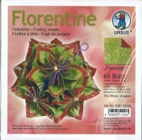 Florentine Faltblätter Paradiso 15x15cm 65 Blatt grün/rot
