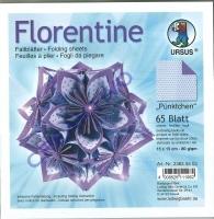 Florentine Faltblätter Pünktchen 15x15cm 65 Blatt flieder/lila