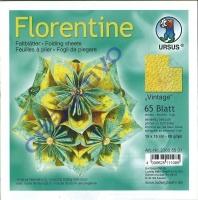 Florentine Faltblätter Vintage 15x15cm 65 Blatt gelb/türkis