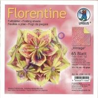 Florentine Faltblätter Vintage 15x15cm 65 Blatt rosa/gelb