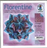 Florentine Faltblätter Vintage 15x15cm 65 Blatt brombeer/ozeanblau