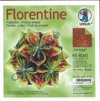 Florentine Faltblätter Vintage 15x15cm 65 Blatt rot/grün