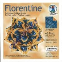 Florentine Faltblätter Vintage 15x15cm 65 Blatt blau/orange