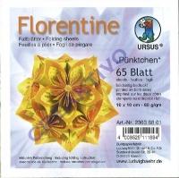Florentine Faltblätter Pünktchen 10x10cm 65 Blatt gelb/orange