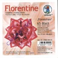 Florentine Faltblätter Pünktchen 10x10cm 65 Blatt rosa/rot