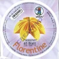 Florentine Faltblätter Pünktchen 10cm rund 65 Blatt gelb/orange