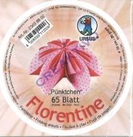 Florentine Faltblätter Pünktchen 10cm rund 65 Blatt rosa/rot