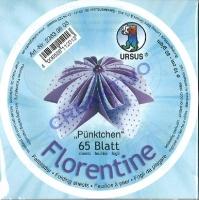 Florentine Faltblätter Pünktchen 10cm rund 65 Blatt flieder/lila