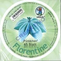 Florentine Faltblätter Pünktchen 10cm rund 65 Blatt hellblau/türkis