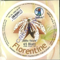 Florentine Faltblätter Mille fleurs 10cm rund 65 Blatt braun/dunkelgelb