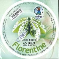 Florentine Faltblätter Mille fleurs 10cm rund 65 Blatt grün/hellgrün