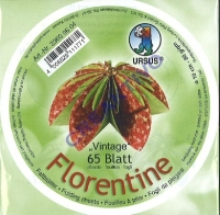 Florentine Faltblätter Vintage 10cm rund 65 Blatt rot/grün