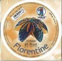 Florentine Faltblätter Vintage 10cm rund 65 Blatt blau/orange