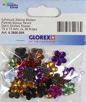 Schmuck-Steine Blüten ca. 34 Stück