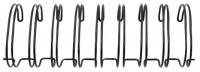 Metallspiralen für Cinch-Bindemaschine 2,54cm 30cm 2 Stück schw.