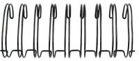 Metallspiralen für Cinch-Bindemaschine 3,18cm 30cm 2 Stück schw.