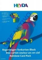 Regenbogen-Tonkarton Block 10 Blatt 23x33cm 180g/qm