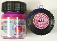 Marabu Porcelain Glas 15ml Glitter-rosa
