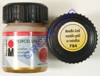 Marabu Porcelain Glas 15ml metallic-gold