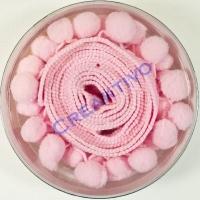 Tilda Pom-Pom Ribbon 1,5m rosa