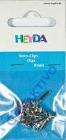 Heyda Living Moments Deko-Clips rund kristall 10 St