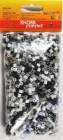 Bügelperlen-Mix 2000 Stück schwarz/grau/weiß