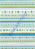 Motiv-Bastelkarton Baby DIN A4 Blau Bordüre