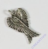 Pracht Metallanhänger Flügel altplatin 27x16mm