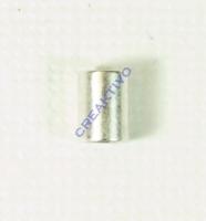 Pracht Endstück platin antik zylindrisch 5,6x4mm