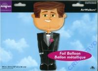 Folienballon Airwalker Bräutigam 127cm