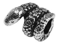 Rockstars Metall-Zierelement-Schlange altsilber 12 mm Großloch