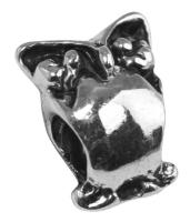 Rockstars Metall-Zierelement-Eule altsilber 12 mm Großloch
