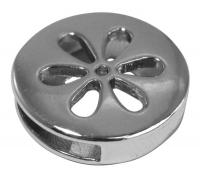 Rockstars Metall-Zierelement-Blume silber 16 mm
