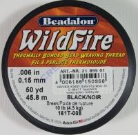 Perlenwebfaden Wild Fire Wildfire schwarz ø 0,15 mm Meterware