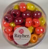 Rayher Glas Großlochradl opak 8,7mm rot-gelb Töne