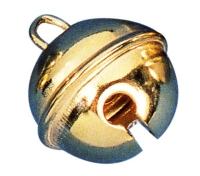 Rayher Metallglöckchen kugelförmig 35mm gold 2 Stück